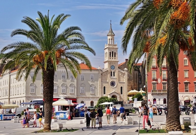 City of Split: Mixture of Ancient and Modern Atmosphere
