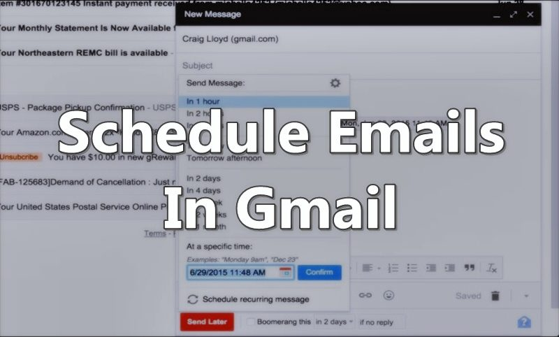 How to Schedule Emails to Send Them Later in Gmail