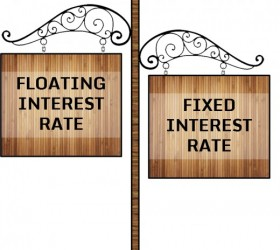Fixed or floating rate of interest